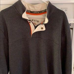 Men's Orvis quarter zip sweater